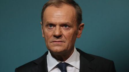 EU Council president Donald Tusk, pictured here in 2018, has hit back at Vladimir Putin's attack on