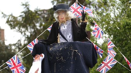 Scarecrows on display at the Little Paxton Scarecrow festival.Pic - Richard Marsham