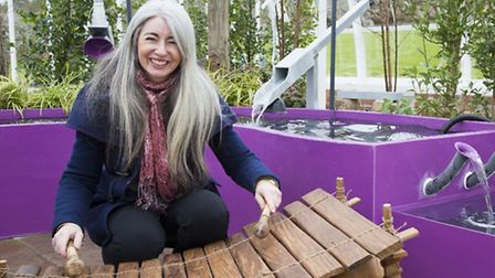 Dame Evelyn Glennie at the Together We Can garden