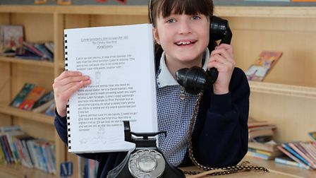 Mandeville Primary School's Olivia Harding, 10, finished in the top 10 of a national story writing c
