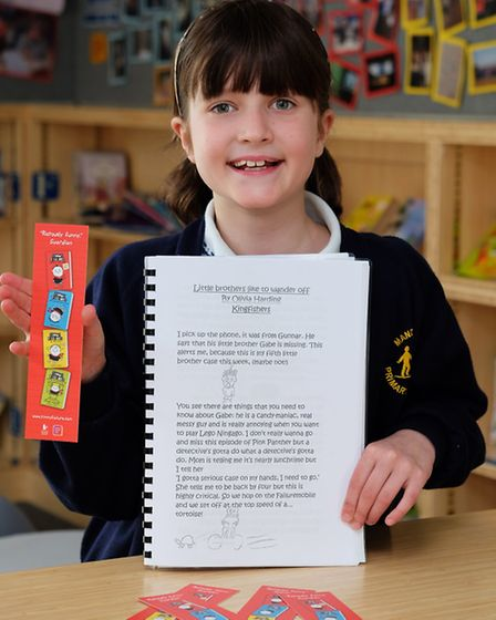 Mandeville Primary School's Olivia Harding, 10, wrote a story as part of the National Literary Trust