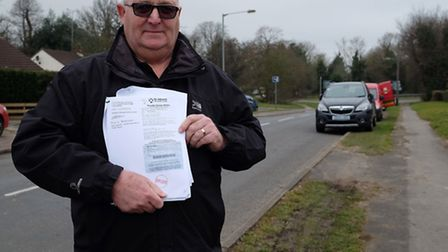 Resident Paul Winsor received a parking ticket for parking on the verge on Wistlea Crescent