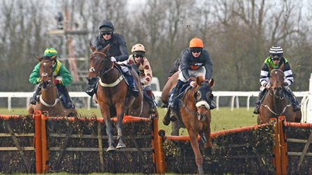 Action from an earlier meeting at Huntingdon Racecourse this year.