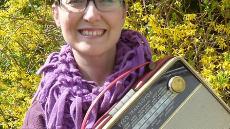 Naomi Wallen from Bassingbourn with her grandfather's restored radio.
