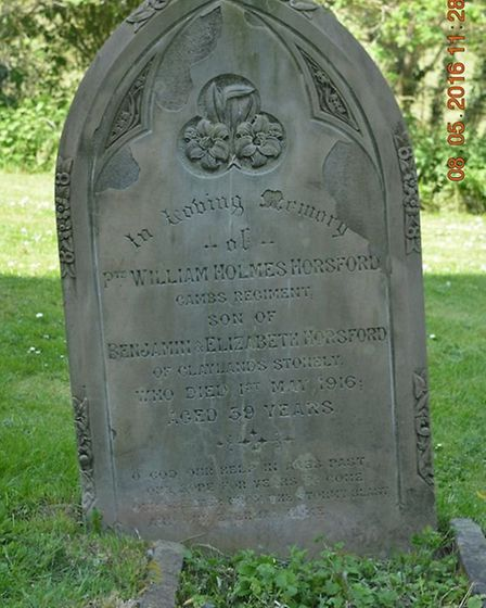 Pte Horsford is buried in the church at Stow Longa