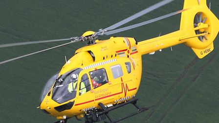 The East Anglian Air Ambulance attended the scene in Colney Heath, near St Albans