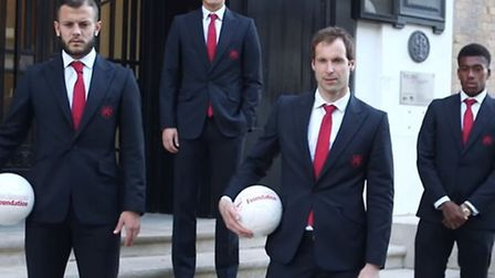 First team players were at the event. Photo courtesy Arsenal Media