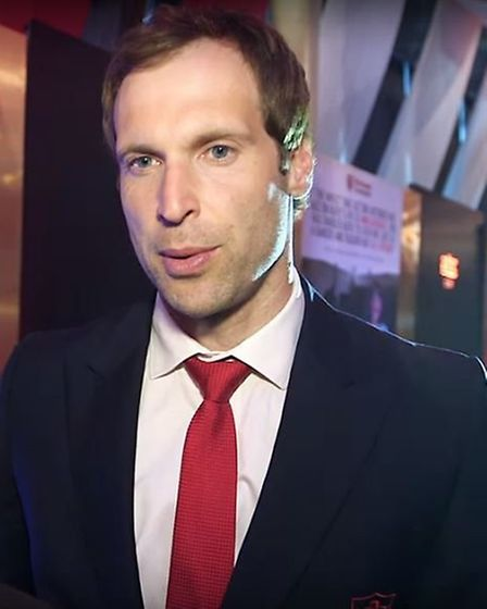 Arsenal goalkeeper Petr Cech attended the charity ball