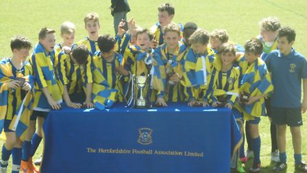 Harvesters U13 North made it back-to-back county cup wins at Letchworth's County Ground