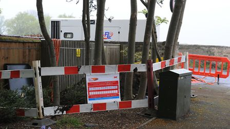 The affected substation, in St Ives.