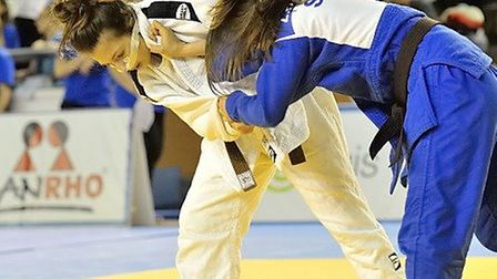 Amy Platten overcame a heavy blow to the nose to pick up the bronze medal in Romania. Picture: EUROP