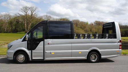 The Cabrio Sprinter boasts a powered panoramic saloon roof which opens and closes at the touch of a