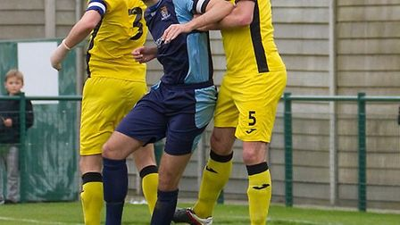 Tom Ward in action for St Neots Town during last season. Picture: CLAIRE HOWES