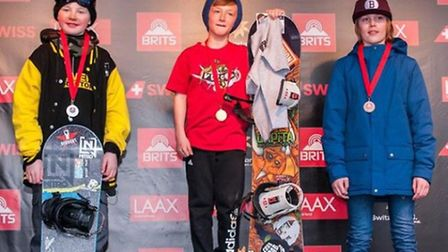 Liam Tynan on top of the podium at the British Championships