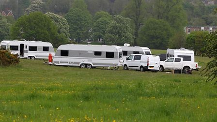 Travellers on East Common in Harpenden