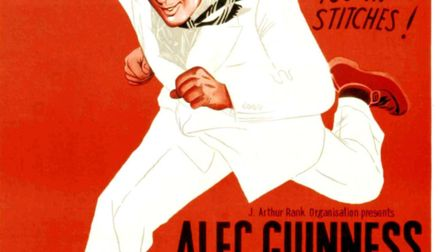 The Man In The White Suit, poster, Alec Guinness, 1951. (Photo by LMPC via Getty Images)