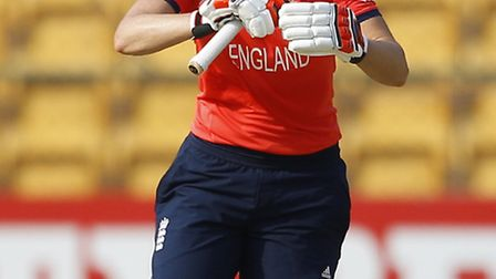 Charlotte Edwards in action during a recent ICC Women's Twenty20 match against Bangladesh - her last