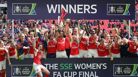 Arsenal ladies lift the Women's FA Cup