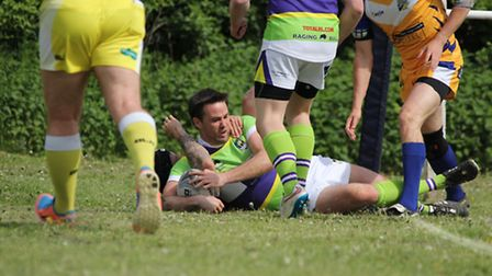 Adam Russell scores on his Centurions debut