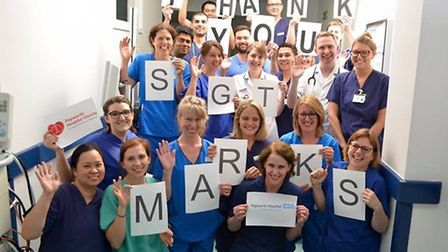 Papworth Hospital staff send a message.