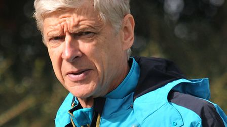 Arsène Wenger at Arsenal's training grounds in London Colney