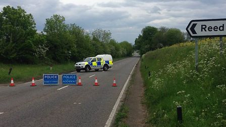 Five cars collided on the A10 this afternoon
