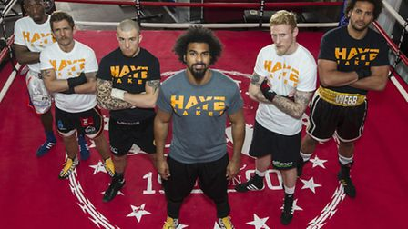 London Colney's Ollie Pattison, second from right, will fight on the undercard of David Haye's Haye