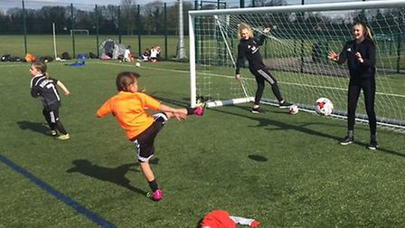 St Albans City youth held a coaching camp at Easter