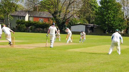 Paul Leary batting for Royston