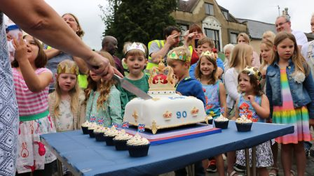 Street party in Ramsey to celebrate the Queen's 90th birthday