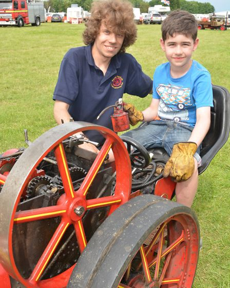 Miniature & More Rally, at Ramsey Rural Museum, (l-r) Thomas Hoy, from St Neots, with Spencer, from