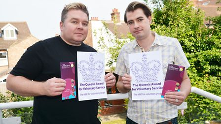 The Crescent project manager Iain Murtagh, volunteer Michael Cannon