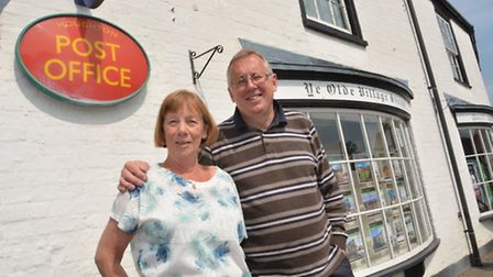 Houghton Village Shop owners Margaret and David Ebdale,