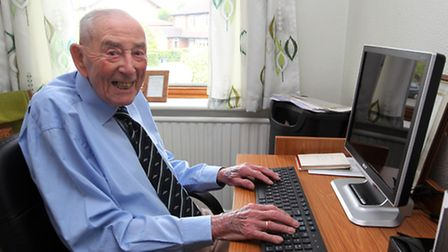 Jim Crotty, 92, has already signed up to an Internet and Email course