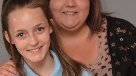 Shannon Clifton, and her mum Tracey Manyweathers, at their home in Huntingdon