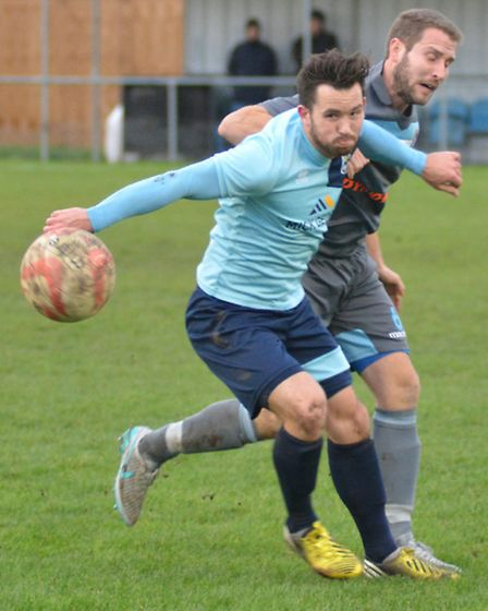 St Neots Town's other new striking signing this summer, James Hall.