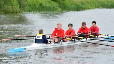The successful St Ives Rowing Club novice quad of Campbell Strong, Conor Strong, Rory Crouch, Sam Ha