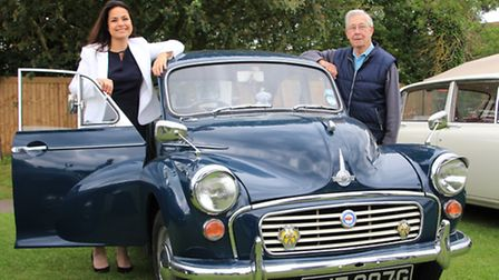 Heidi was attracted to this immaculate classic 1968 Morris Minor 1,000 belonging to Eric Theobald fr