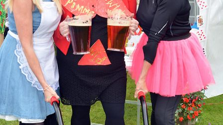 Somersham Carnival, (l-r) Sasha Dighton, Claire Kimpton, Shirley Dunne, from Parkhall Play Group