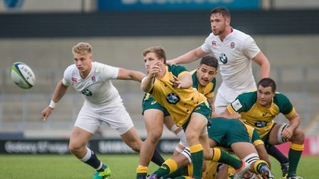 England scrapped to a 17-13 win over Australia and a place in the semi-finals