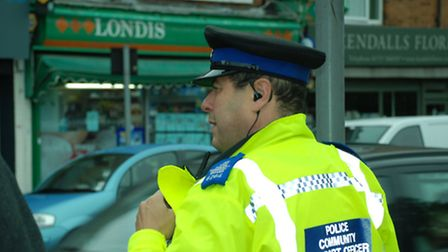 St Albans police officers executed a warrant at Londis convenience store in Hatfield Road, St Albans