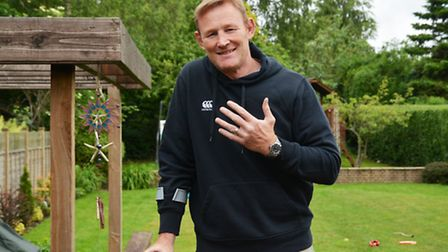 David Harries with the wedding ring