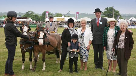 Brave Tommy Lines at the Herts County Show 2016, Redbourn, with his special Cup