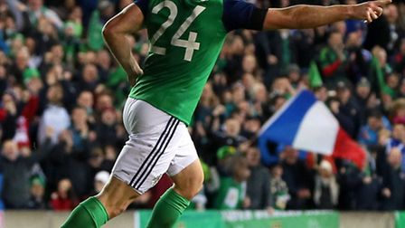 Conor Washington came on as a substitute in Northern Ireland's opening fixture at Euro 2016. Picture