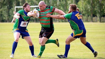 St. Ives Roosters v Southend Spartons, (centre) Roosters player Duncan Williams. Photo by Leigh Chat