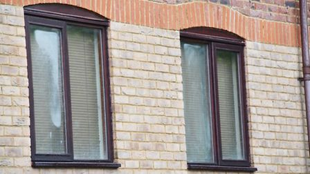 Windows on the flats in Millers Rise