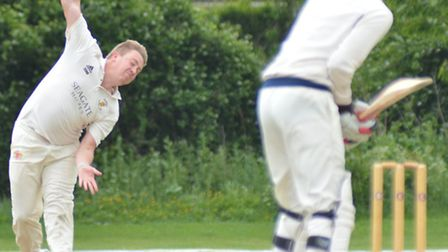 Blake Mills took three wickets as Ramsey beat Wisbech on Bank Holiday Monday. Picture: HELEN DRAKE