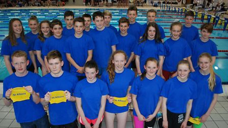 St Albans District Secondary Schools Swimming Team had a successful time at the County Championships