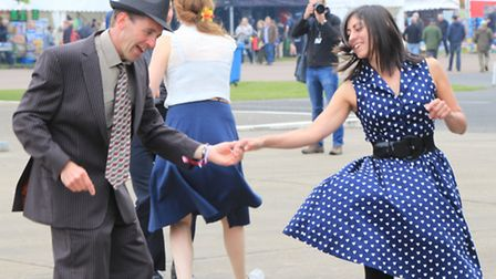 The Lindy Hoppers swinging to the music of the day. PICTURE: Clive Porter.