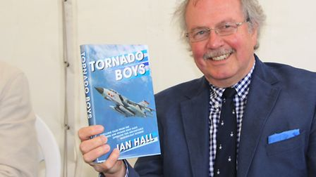 Aviation author, Ian Hall, was signing his latest publication. PICTURE: Clive Porter.